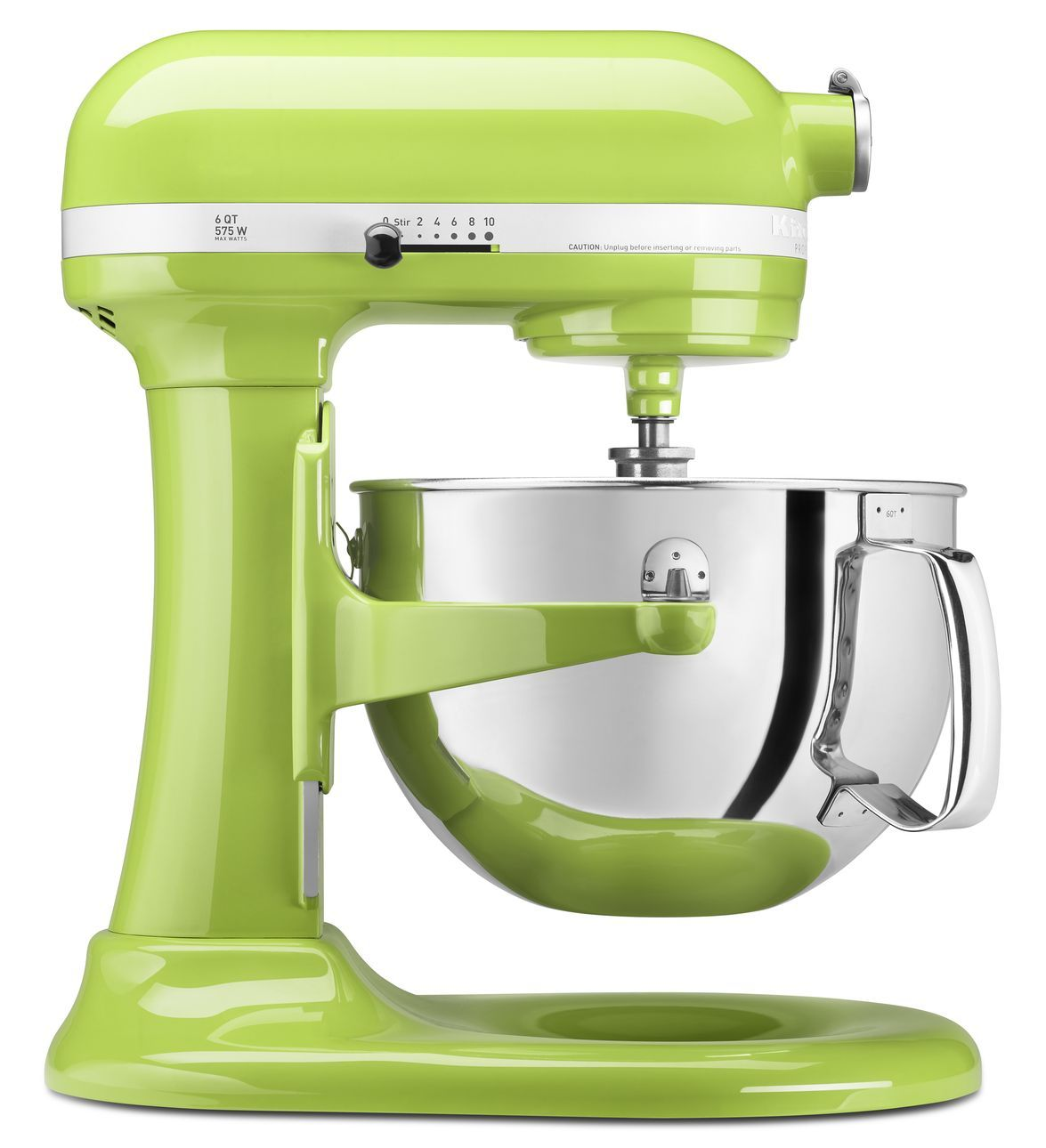 kitchen aid stand mixer in lime green