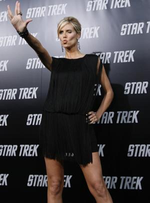 Heidi Klum wishes you live long and prosper