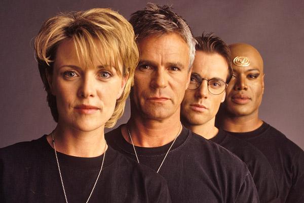 Stargate SG-1 team: Col Samantha Carter, Jack O'Neill, Dr Daniel Jackson, Teal'c