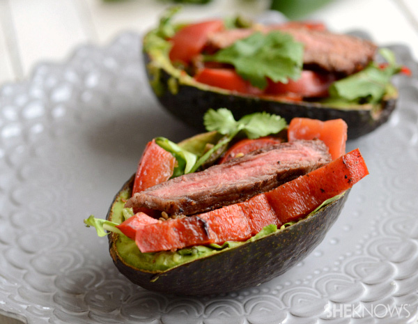 steak stuffed avocado