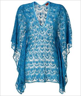 Missoni Turquoise Short Caftan, $535.00
