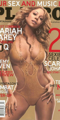 Mariah Carey on the cover of Playboy