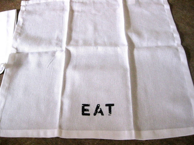 Stenciled napkins