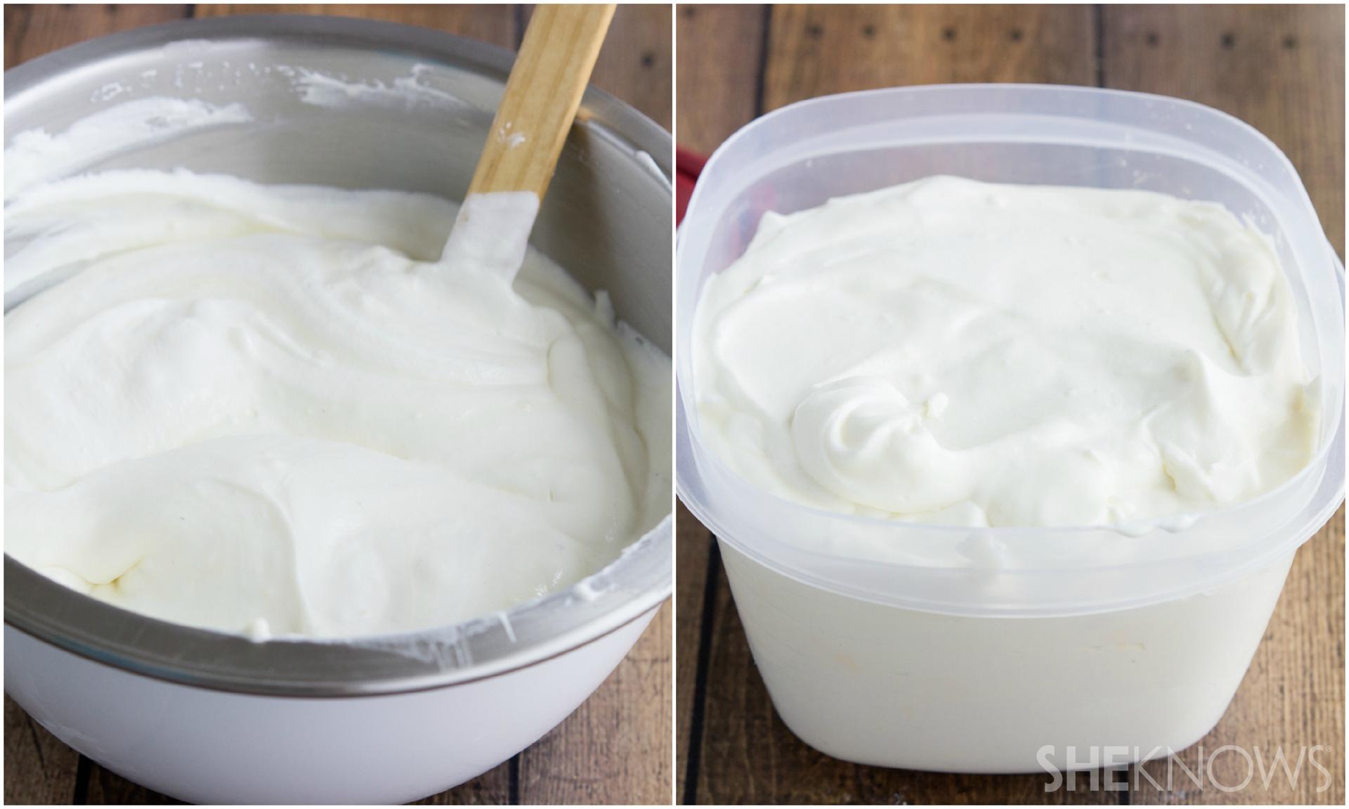 Decadent homemade ice cream