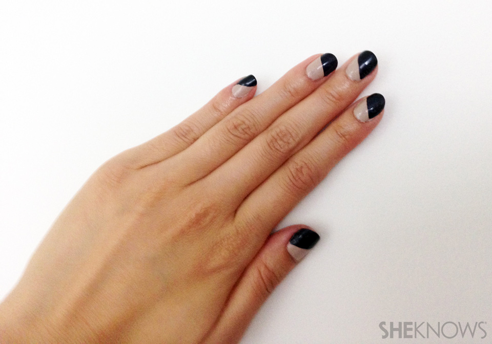 How to save your chipped manicure: Finished