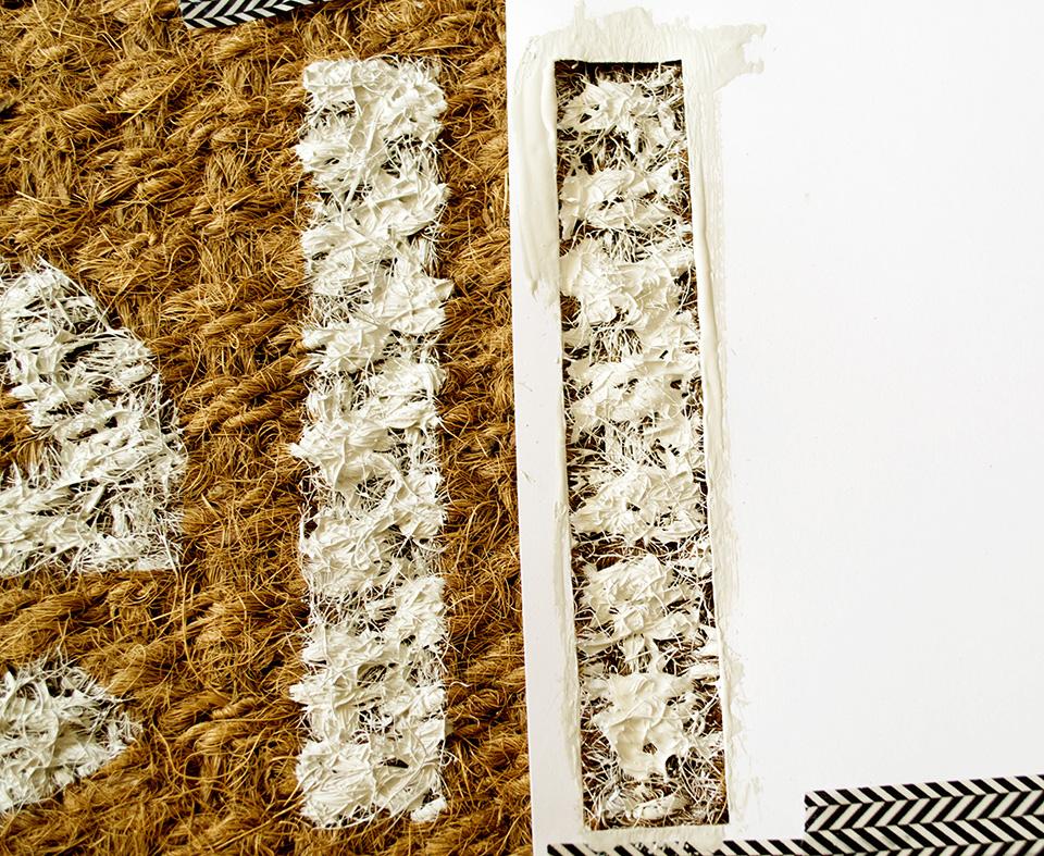 DIY stenciled doormat
