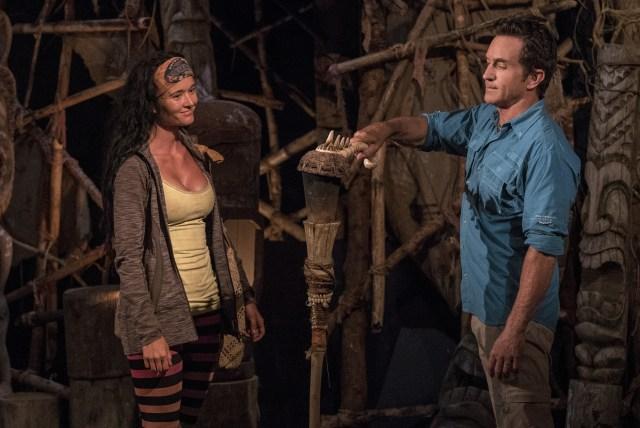 Stephanie Johnson voted off Survivor: Ghost Island