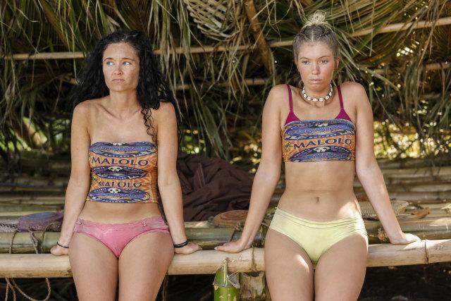 Stephanie Johnson with Jenna Bowman on Survivor: Ghost Island