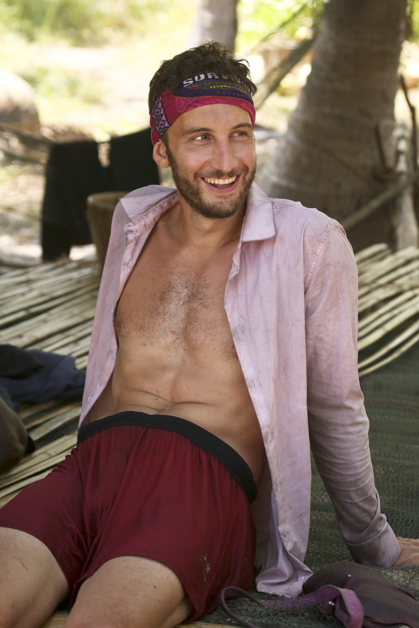 Stephen Fishbach in camp on Survivor: Second Chance