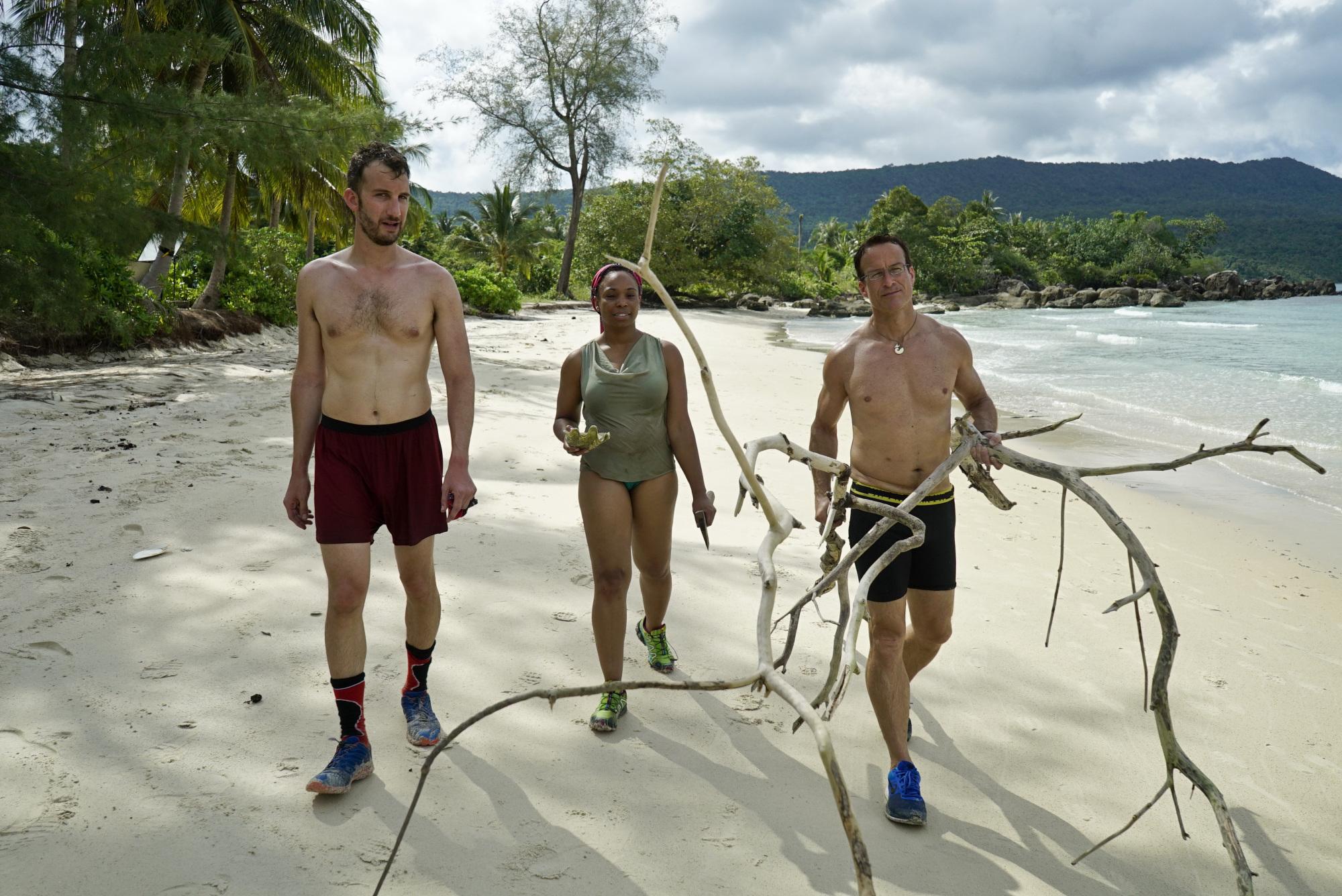 Stephen Fishbach, Tasha Fox and Andrew Savage on Survivor: Second Chance