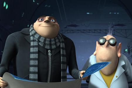 Steve Carell in Despicable Me, also starring Russell Brand!