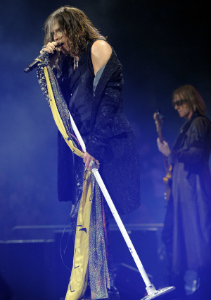 Steven Tyler of Aerosmith Performing