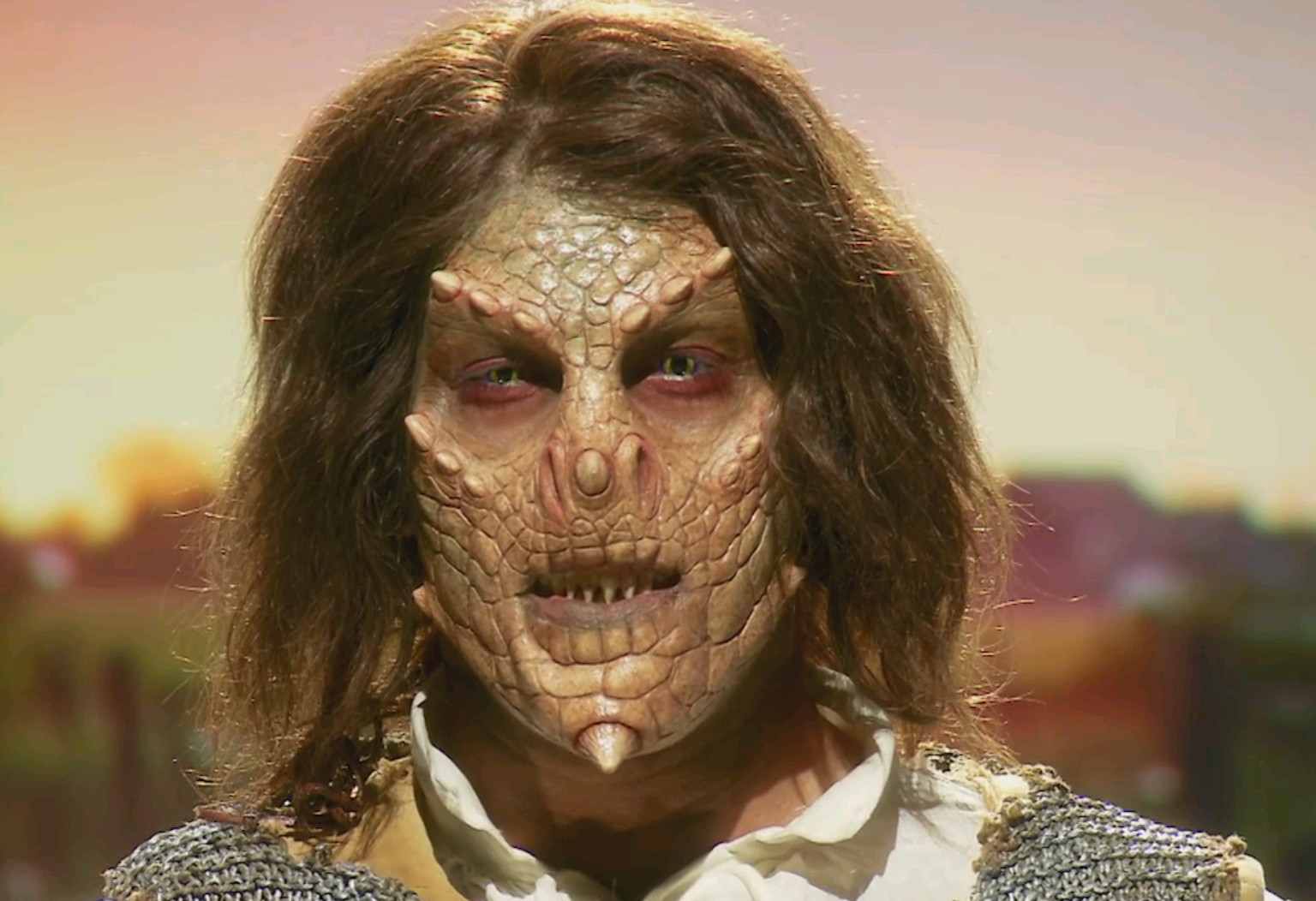 A close look at Stevie Calabrese's finished makeup