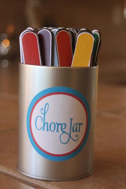 sticks chore jar DIY