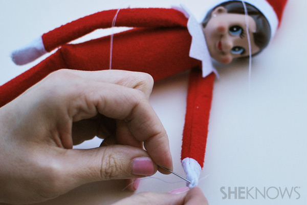 Stitching the elf back up - making your Elf on the Shelf bendable