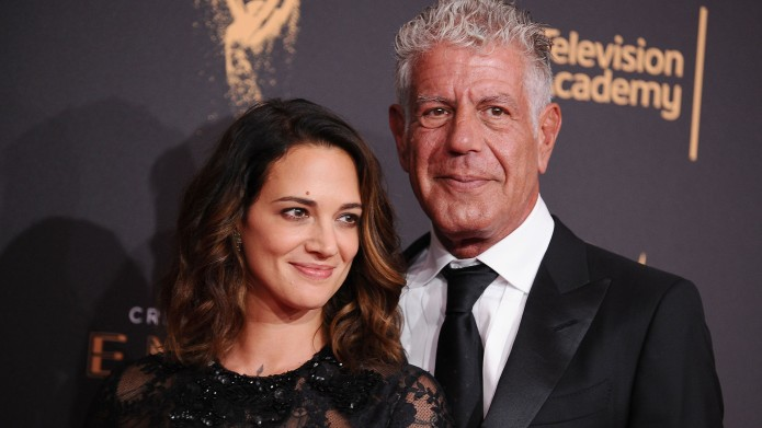 Asia Argento and Anthony Bourdain attend