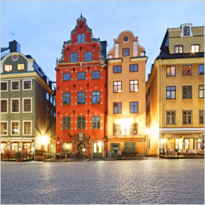Evening in the square - Stockholm