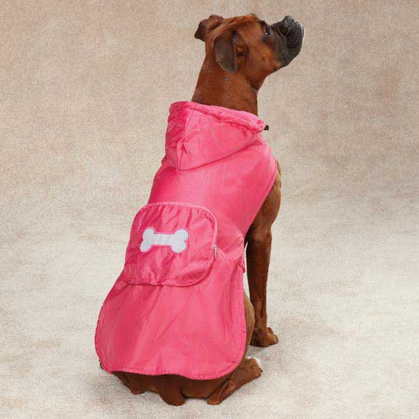 stowaway rain jacket for large dogs