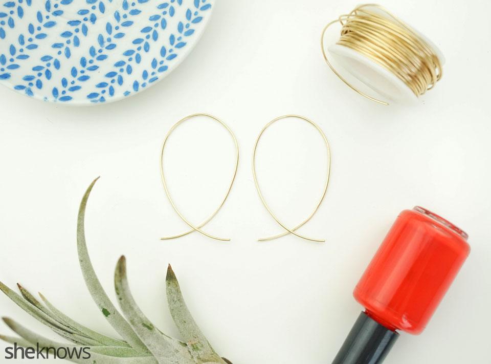 DIY Hoop Earrings Step 4