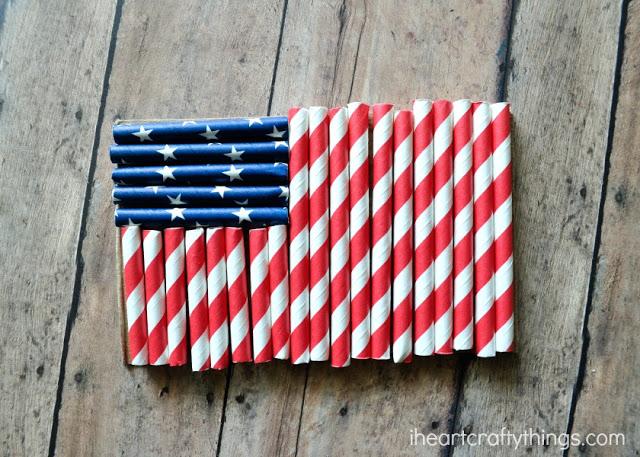 Straw American flag