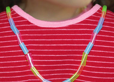 Drinking Straw Necklace