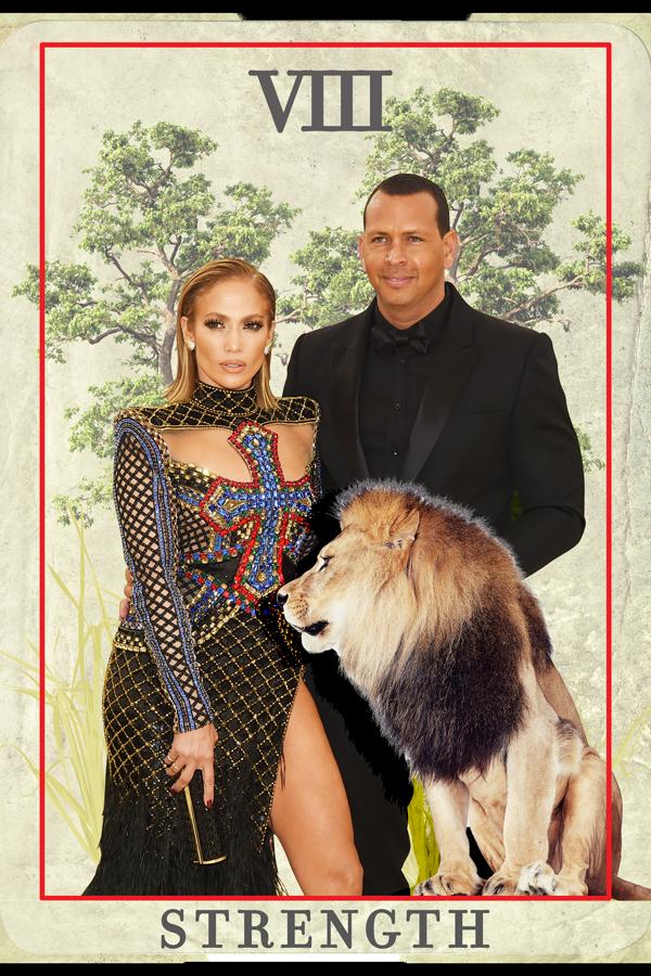 Jennifer Lopez, Alex Rodriguez tarot card reading