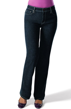 Bargain buy: Signature by Levi Strauss & Co. totally slimming at-waist bootcut jeans ($18 at Walmart)
