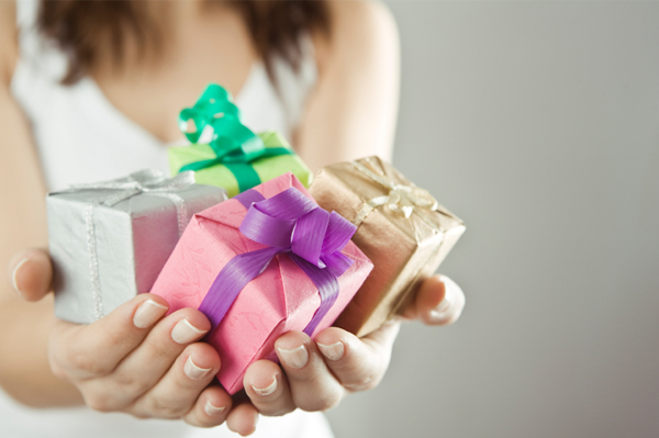 Woman with Many Presents