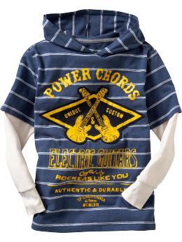 Boys striped hoodie