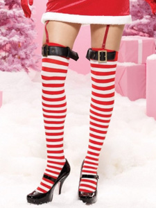 Striped Santa stockings