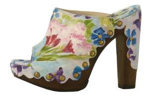 Stuart Weitzman floral clog