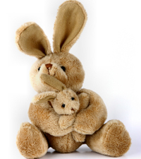 Stuffed bunny favors