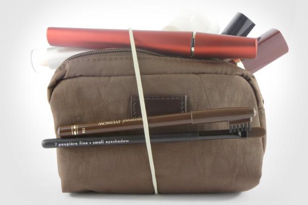 packed makeup bag