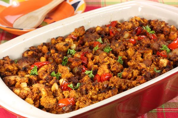 Spicy cornbread stuffing