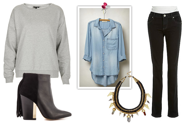 How to style a sweatshirt for work