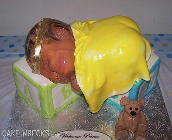 19 Truly Bizarre Baby Shower Cake FAILs