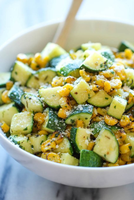 Parmesan zucchini & corn