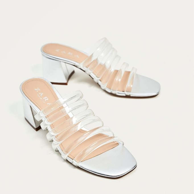 The Best Mule Shoe For Summer 2017: Zara Silver-Toned Mules | Summer 2017 Accessories