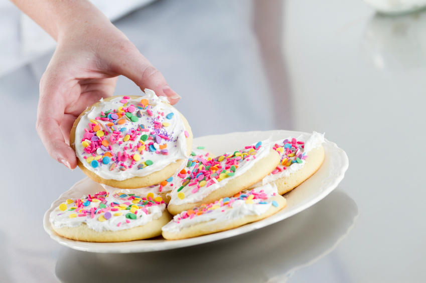 Messy Decorated Cookies