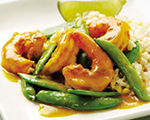 Sugar snap pea and shrimp curry recipe