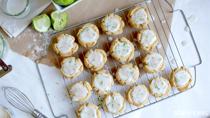 Tangy lime glaze makes Irish shortbread