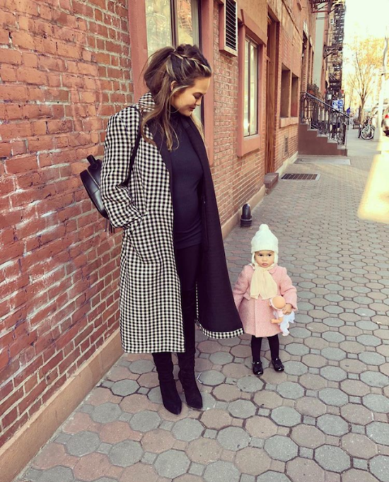 Chrissy Teigen and Luna in January