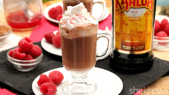 Boozy raspberry-Kahlúa hot chocolate — the
