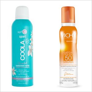 Our picks:COOLA Sport SPF 50 Unscented Sunscreen Spray (coolasuncare.com, $32); Vichy Laboratoires Capital Soleil SPF 50 Lightweight Foaming Lotion (vichyusa.com, $29)