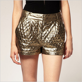 Revive Gold Quilted Shorts