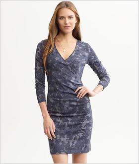 Our pick: Printed wrap dress, Banana Republic, $78