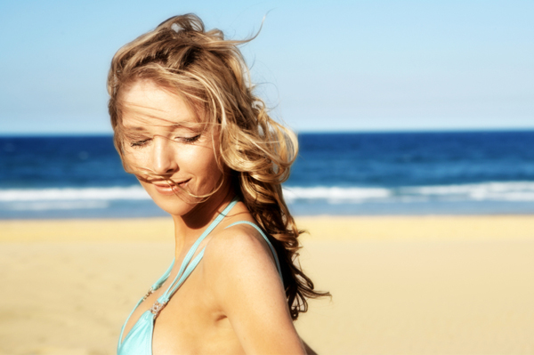 Summer woman at beach