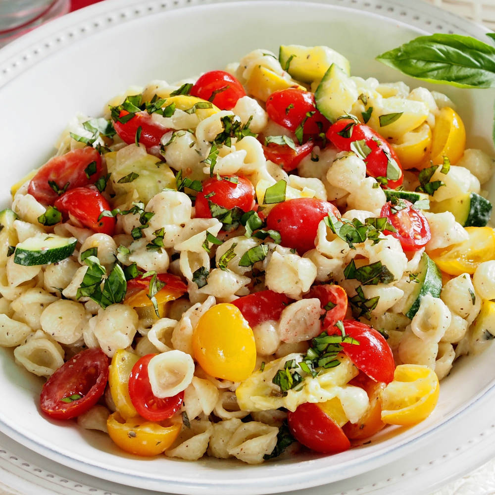 Summer pasta salad with boursin