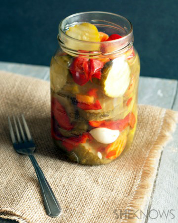 Homemade marinated summer vegetables recipe