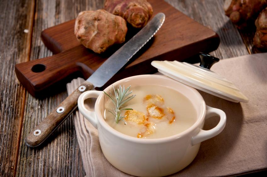 vegan sunchoke soup